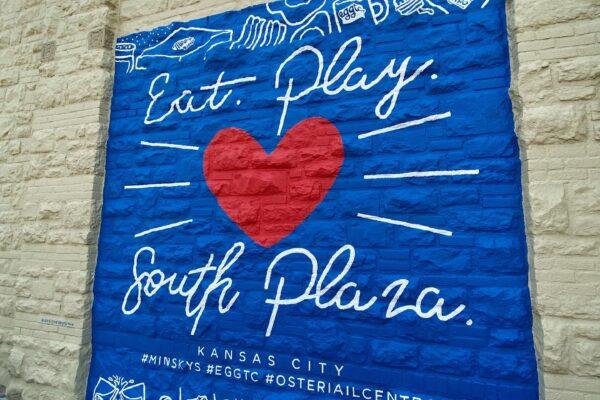 Final South Plaza Mural - Osteria IL Centro