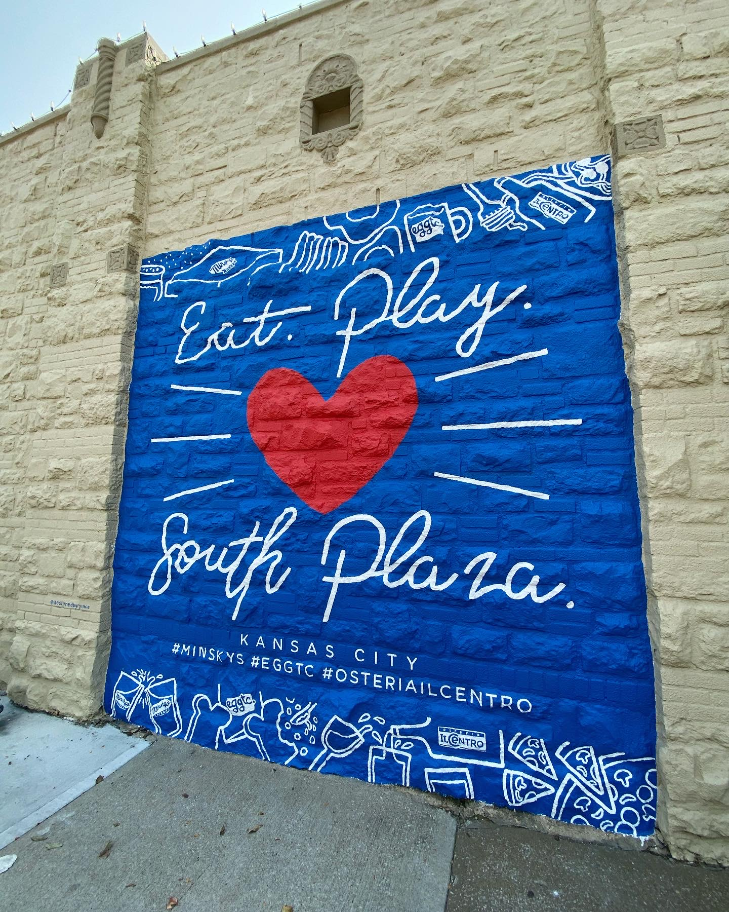 Eat. Play. (Love) South Plaza: New Mural from Local Artist!