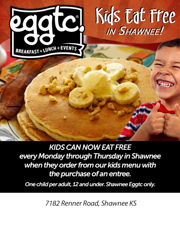 Kids Eat Free at Eggtc!