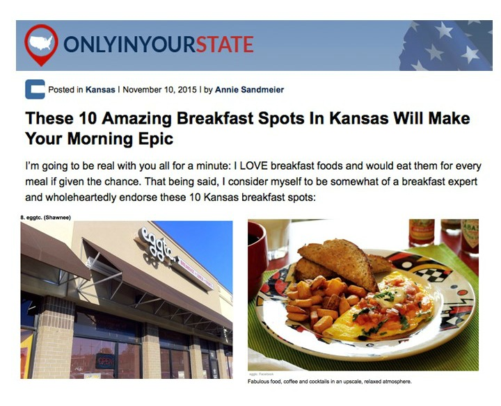 Eggtc. Shawnee – Top 10 Breakfasts in Kansas