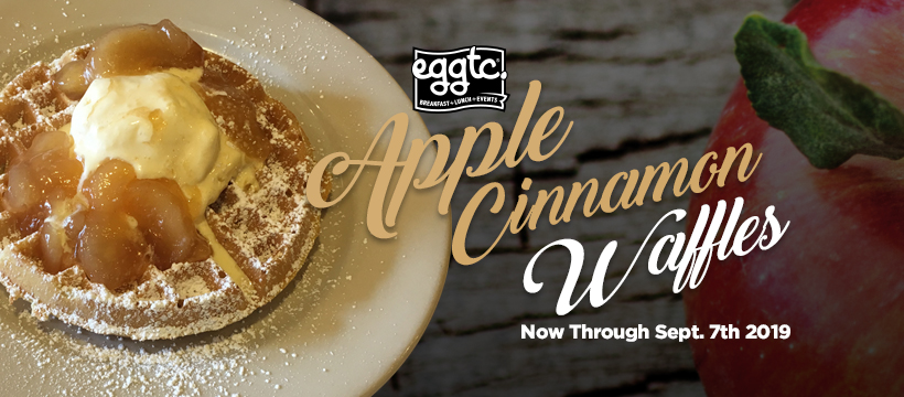 Celebrate National Waffle Day with eggtc.'s Apple Cinnamon Waffles!