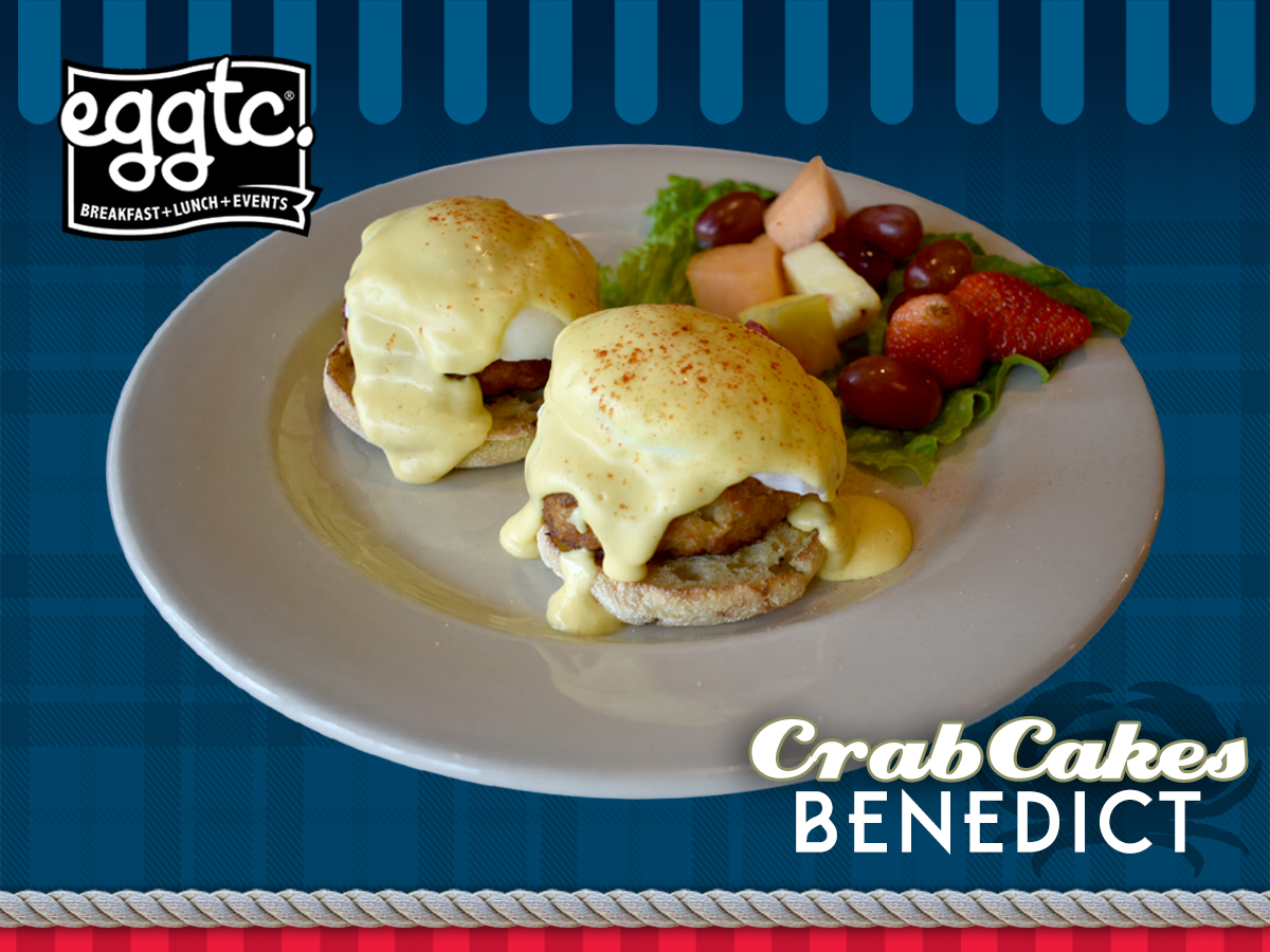 January Special: Crab Cakes Benedict