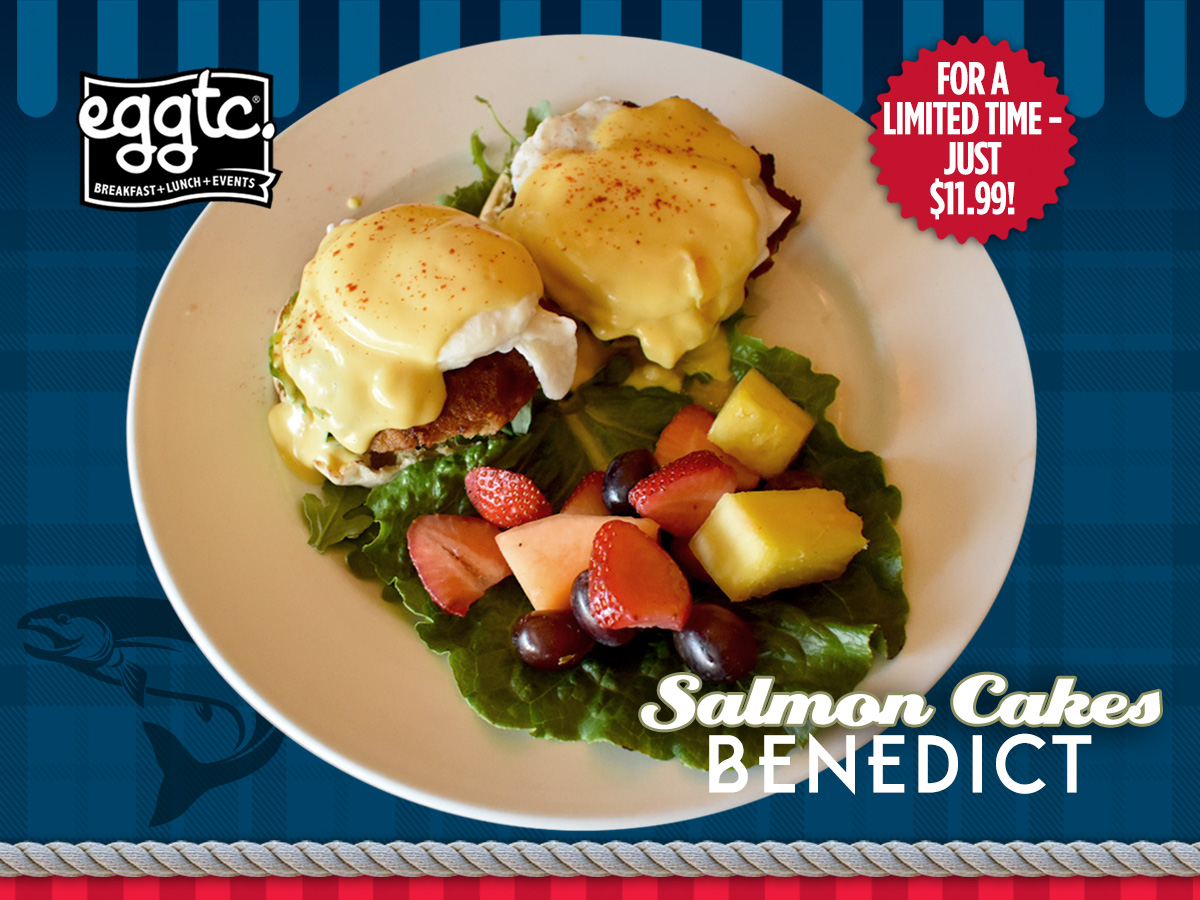 January Special: Salmon Cakes Benedict