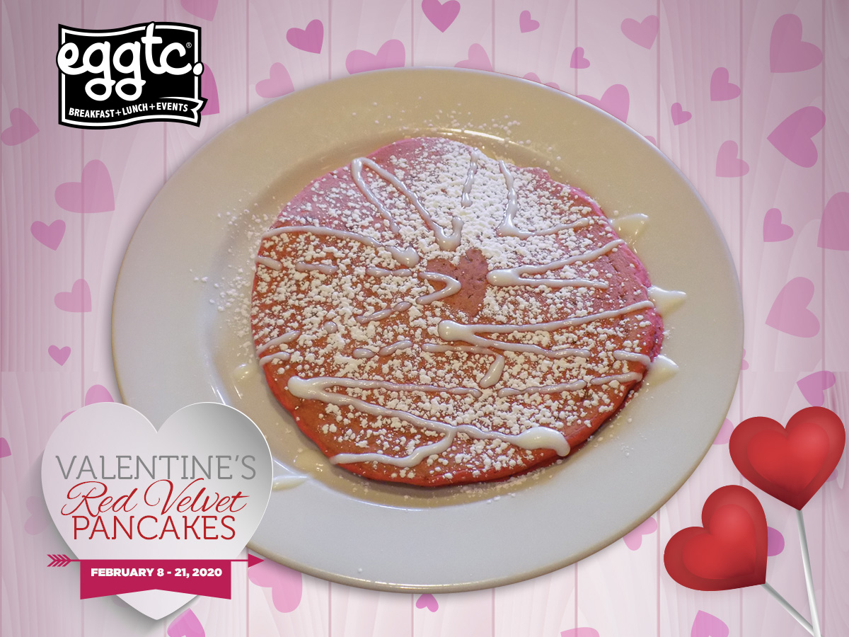 Treat Your Sweetie to Red Velvet Pancakes for Valentine's Day!